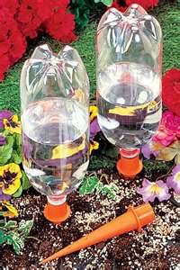 Make your own slow drip watering system.