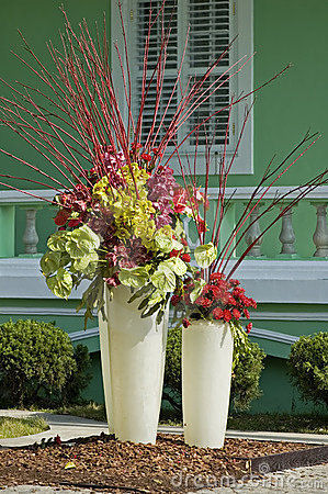 Decorating with container gardens.