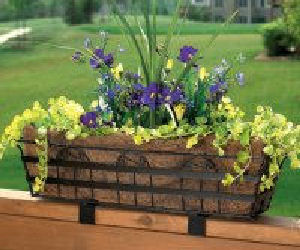 Rail planter container garden.